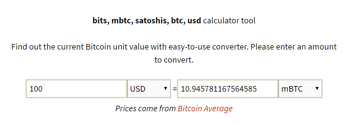 bitcoin to mbtc conversion tool
